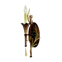 Feiss Amelia 1 Light Wall Sconce in Silver Leaf Patina and Oxidized Bronze WB1562SLP/OBZ