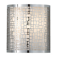 Joplin 1 Light 8 inch Chrome Wall Sconce Wall Light in Off White Linen