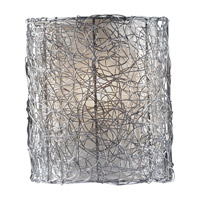 Feiss WB1578BS Wired 1 Light 8 inch Brushed Steel Wall Sconce Wall Light