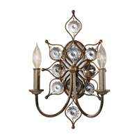 Feiss WB1579BUS Leila 2 Light 11 inch Burnished Silver Wall Sconce Wall Light