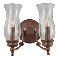 Feiss Pickering Lane 2 Light Wall Bracket in Heritage Bronze WB1598HTBZ