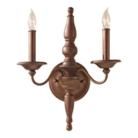 Feiss Yorktown Heights 2 Light Wall Bracket in Prescott Bronze WB1599PRBZ