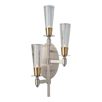 Feiss WB1607BN/NB Celebration 3 Light 10 inch Brushed Nickel and Natural Brass Wall Sconce Wall Light photo thumbnail