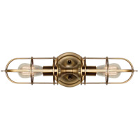 Feiss Urban Renewal 2 Light Wall Bracket in Dark Antique Brass WB1704DAB