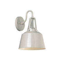 Feiss Freemont 1 Light Wall Sconce in Hi Gloss Grey WB1726HGG