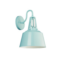 Freemont 1 Light 13 inch Hi Gloss Blue Outdoor Lantern Wall Sconce in Standard