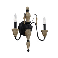 Feiss Matrimonio 2 Light Wall Sconce in Driftwood / Dark Weathered Zinc WB1745DFW/DWZ