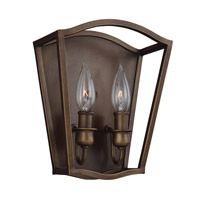 Feiss Yarmouth 2 Light Wall Sconce in Painted Aged Brass WB1746PAGB