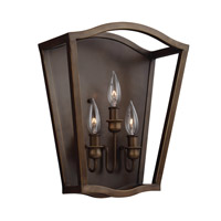 Yarmouth 3 Light 13 inch Painted Aged Brass Wall Sconce Wall Light