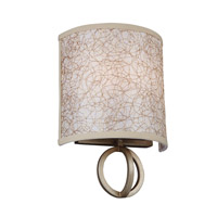 Feiss Parchment Park 2 Light Wall Sconce in Burnished Silver WB1758BUS