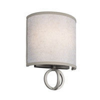 Feiss Parchment Park 2 Light Wall Sconce in Dark Silver WB1758SL