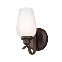 Feiss Standish 1 Light Wall Bath Fixture in Oil Rubbed Bronze with Highlights WB1769ORBH-F