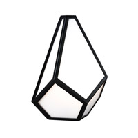 Feiss Diamond 1 Light Wall Sconce in Black WB1770BK