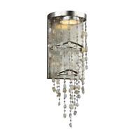 Stonesend 6 inch Silver Leaf Antique Wall Sconce Wall Light