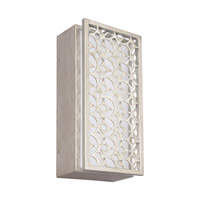 Feiss Kenney LED Wall Sconce in Sunrise Silver with White Linen Fabric Shade WB1820SRS-LED