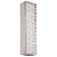 Feiss Kenney LED Wall Sconce in Sunrise Silver with White Linen Fabric Shade WB1821SRS-LED