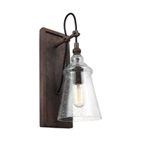 Loras 1 Light 6 inch Dark Weathered Iron Vanity Light Wall Light