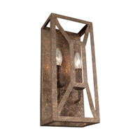 Feiss WB1865DSGL Marquelle 2 Light 7 inch Distressed Goldleaf Vanity Light Wall Light