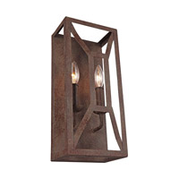 Feiss WB1865WI Marquelle 2 Light 7 inch Weathered Iron Vanity Light Wall Light