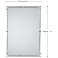 Feiss MR1089BS Parker Place 33 X 22 inch Brushed Steel Wall Mirror