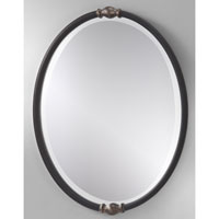 Feiss Jackie Mirror in Black and Antique Silver MR1119BK/ASL
