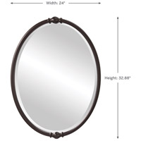 Feiss MR1119ORB Jackie 33 X 24 inch Oil Rubbed Bronze Wall Mirror alternative photo thumbnail