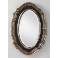 Feiss Julia Mirror in Antique Silver and Black MR1123ASL/BK