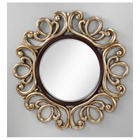 Feiss Courtney Mirror in Mahogany  and Antique Silver MR1132MHG/ASL