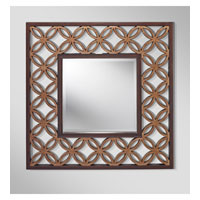 Feiss Signature Mirror in Heritage Bronze and Parissiene Gold MR1186HTBZ/PGD