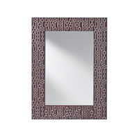 Feiss Tessuto Mirror in Mahogany W and  HiLight MR1198MHGHL