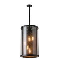 Bluffton 5 Light 15 inch Oil Rubbed Bronze Outdoor Hanging Lantern in Fluorescent