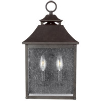 Feiss OL14400SBL Galena 17 inch Sable Outdoor Wall Lantern