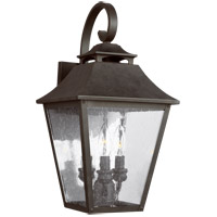 Feiss OL14403SBL Galena 19 inch Sable Outdoor Wall Lantern