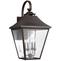 Feiss OL14405SBL Galena 33 inch Sable Outdoor Wall Lantern