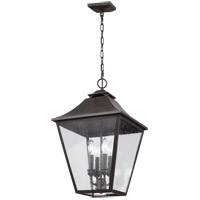 Feiss OL14408SBL Galena 13 inch Sable Outdoor Hanging Lantern