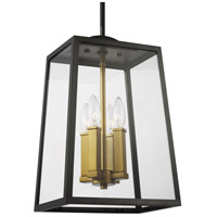 Feiss OL14505ANBZ/PBB Lindbergh 8 inch Antique Bronze and Painted Burnished Brass Outdoor Hanging Lantern
