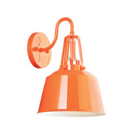 Feiss Freemont LED Outdoor Wall Lantern in Hi Gloss Orange OL15002SHOG-LA