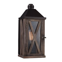Feiss Lumiere 1 Light Outdoor Lantern Wall Sconce in Dark Weathered Oak and Oil Rubbed Bronze OL17000DWO/ORB