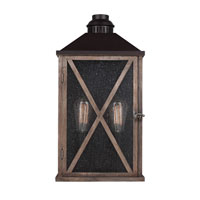 Feiss Lumiere 2 Light Outdoor Lantern Wall Sconce in Dark Weathered Oak and Oil Rubbed Bronze OL17004DWO/ORB