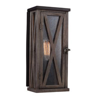Feiss Lumiere 1 Light Outdoor Lantern Wall Sconce in Dark Weathered Oak and Oil Rubbed Bronze OL17005DWO/ORB