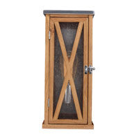 Feiss Lumiere 1 Light Outdoor Lantern Wall Sconce in Natural Oak and Brushed Aluminum OL17005NO