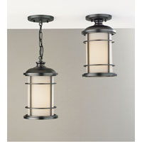 Feiss Lighthouse 1 Light Outdoor Semi Flush Mount in Burnished Bronze OL2209BB