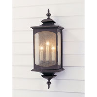 Feiss Market Square 3 Light Outdoor Wall Sconce in Oil Rubbed Bronze OL2602ORB