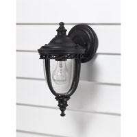 Feiss English Bridle 1 Light Outdoor Wall Sconce in Black OL3000BK