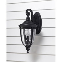 Feiss English Bridle 3 Light Outdoor Wall Sconce in Black OL3001BK