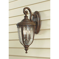 Feiss English Bridle 3 Light Outdoor Wall Sconce in British Bronze OL3001BRB