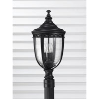 Feiss English Bridle 3 Light Post Lantern in Black OL3008BK