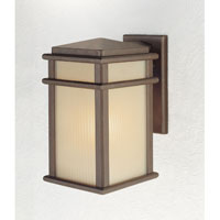 Feiss OL3401CB Mission Lodge 1 Light 13 inch Corinthian Bronze Outdoor Wall Sconce Amber Ribbed Glass alternative photo thumbnail