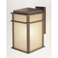 Feiss OL3402CB Mission Lodge 1 Light 15 inch Corinthian Bronze Outdoor Wall Sconce Amber Ribbed Glass