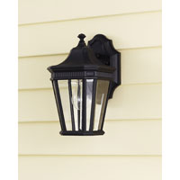 Feiss Cotswold Lane 1 Light Outdoor Wall Sconce in Black OL5400BK